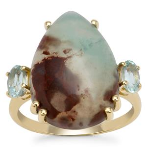 Aquaprase™ Ring with Aquaiba™ Beryl in 9K Gold 8.72cts