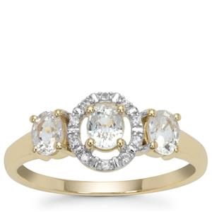 Ceylon White Sapphire Ring in 9K Gold 1.08cts