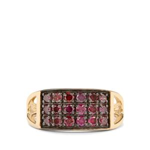 3/4ct Purple Diamond 9K Gold Tomas Rae Ring