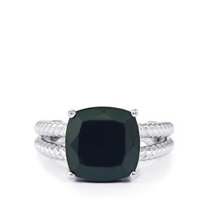 6.50ct Black Spinel Sterling Silver Ring