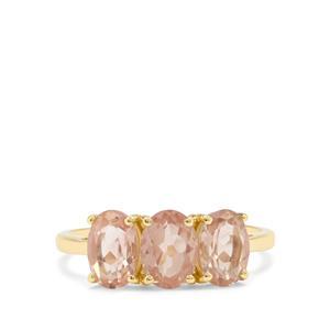 2.27ct Oregon Peach Sunstone 9K Gold Ring