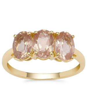 Oregon Peach Sunstone Ring in 9K Gold 2.27cts.