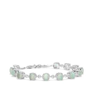 Aquaprase™ Bracelet with White Topaz in Sterling Silver 7.14cts