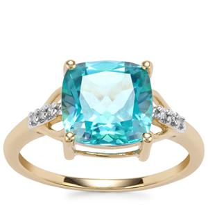 Batalha Topaz Ring with Diamond in 10K Gold 3.76cts