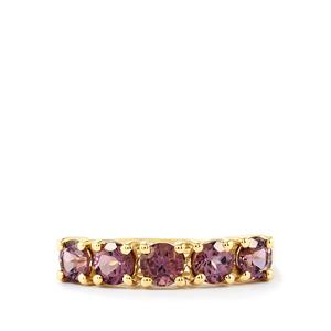 Purple Mahenge Spinel Ring in 10k Gold 1.39cts