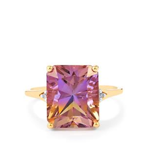 Anahi Ametrine Ring with Diamond in 10k Gold 5.40cts