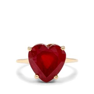 9.05ct Malagasy Ruby 9K Gold Ring (F)