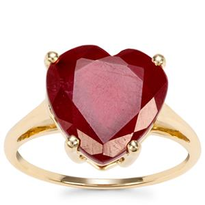 Malagasy Ruby Ring in 10k Gold 9.05cts (F)