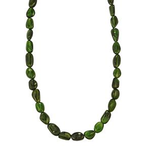 Chrome Diopside Nugget Necklace in Sterling Silver 108cts