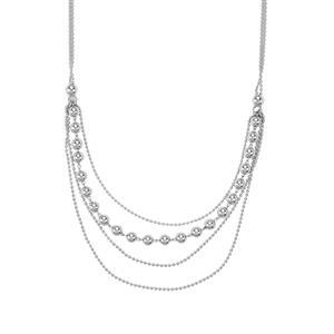 "18"" Graduate Slider Necklace in Sterling Silver 5.97g"