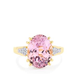 Mawi Kunzite & Diamond 18K Gold Lorique Ring MTGW 7.69cts
