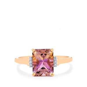 Anahi Ametrine Ring with Diamond in 10k Rose Gold 2.24cts