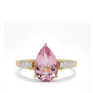 Cherry Blossom™ Morganite & Diamond 18K Gold Ring MTGW 2.45cts
