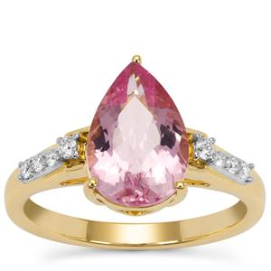 Cherry Blossom™ Morganite Ring with Diamond in 18K Gold 2.45cts