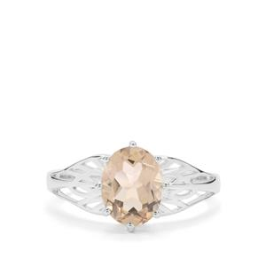 1.59ct Champagne Quartz Sterling Silver Ring