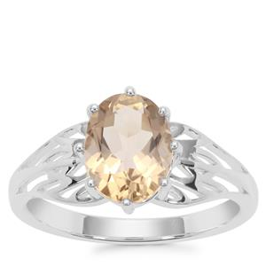 Champagne Quartz Ring in Sterling Silver 1.59cts