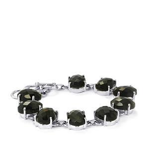 Hawk's Eye Bracelet in Sterling Silver 49.50cts