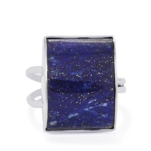 Sar-i-Sang Lapis Lazuli Ring in Sterling Silver 18cts