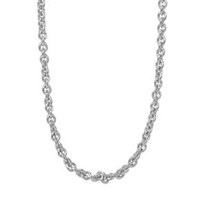 "24"" Sterling Silver Classico Slider Cable Chain 2.36g"