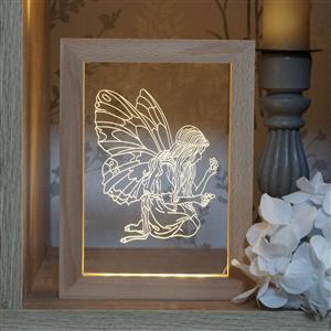 Gem Auras Fairy LED Shadow Box Frame