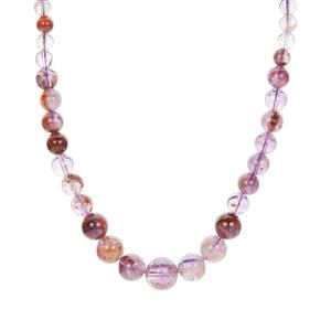 Lodalite Amethyst Graduated Necklace in Sterling Silver 173.45cts