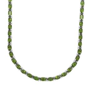19.30ct Chrome Diopside Sterling Silver Necklace