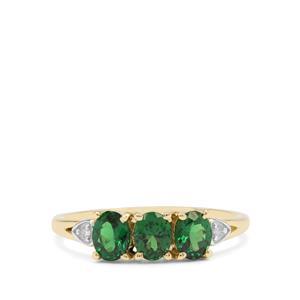 Tsavorite Garnet & Diamond 9K Gold Ring ATGW 1.05cts