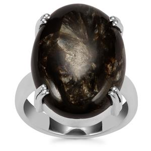 Siberian Seraphinite Ring in Sterling Silver 14cts