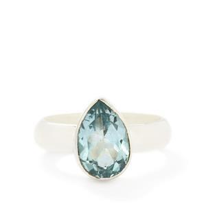 3.50ct Swiss Blue Topaz Sterling Silver Aryonna Ring