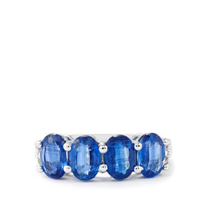 Daha Kyanite & White Topaz Sterling Silver Ring ATGW 3.45cts