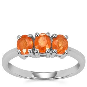 Mandarin Garnet Ring in Sterling Silver 1.46cts