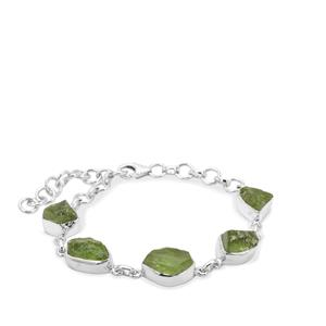 Suppatt Peridot Bracelet in Sterling Silver 25.97cts