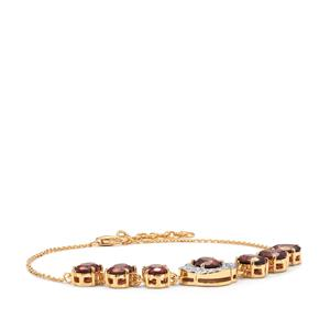 Zanzibar Zircon Bracelet with Diamond in 18K Gold 8.14cts