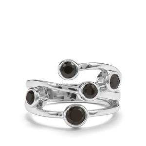 1.26ct Black Spinel Sterling Silver Ring