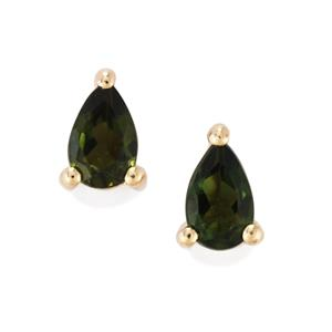 0.40ct Chrome Tourmaline 10K Gold Earrings