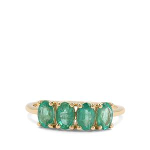 Zambian Emerald Ring in 9K Gold 1.40cts