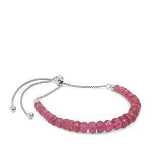 Montepuez Ruby Slider Bracelet in Sterling Silver 25cts