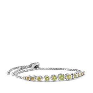 Ambilobe Sphene Slider Bracelet with Morafeno Sphene in Sterling Silver 2.51cts
