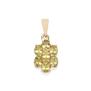 Brazilian Chrysoberyl Pendant  in 10k Gold 1.41cts