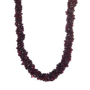 Tocantin  Garnet Necklace in Sterling Silver 491cts