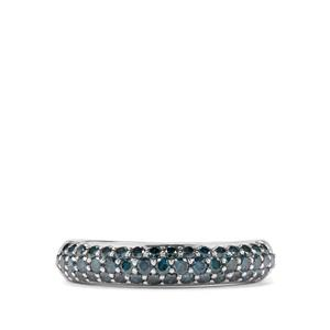 Ajer-Laut Blue Diamond 1ct Sterling Silver Ring