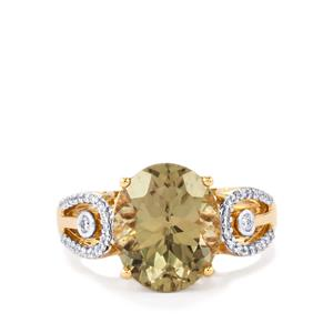 Csarite® Ring with Diamond in 18k Gold 5.96cts