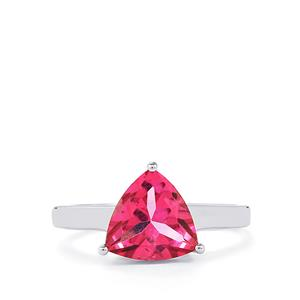 Mystic Pink Topaz Ring in Sterling Silver 2.83cts