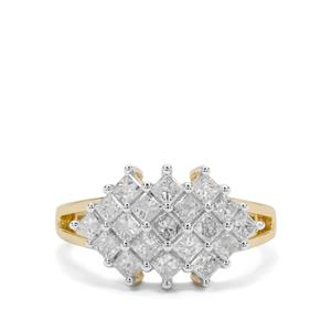 Diamond Ring in 9K Gold 1.45cts