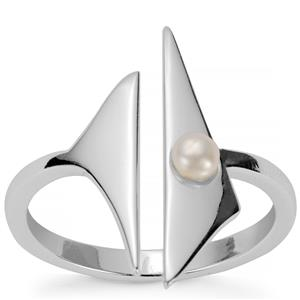 Kaori Cultured Pearl Rosie Loves Ring in Sterling Silver (3mm)