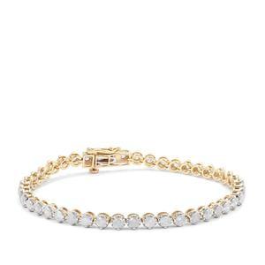 Diamond Bracelet in 9K Gold 5cts