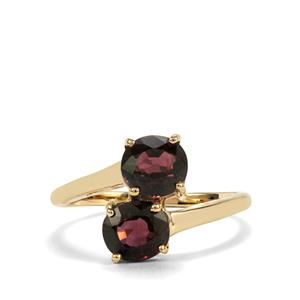 Burmese Multi-Colour Spinel Ring in 10K Gold 2.05cts