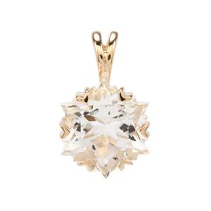 Wobito Snowflake Cut Itinga Petalite Pendant in 10K Gold 3.48cts