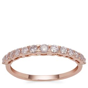 Natural Pink Diamond Ring in 9K Rose Gold 0.52ct