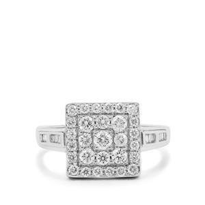 3/4ct GH Diamond Platinum 950 Ring